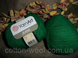 YarnArt Jeans (Ярнарт Джинс) 52 зеленый
