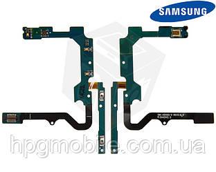 Шлейф для Samsung Galaxy A5 A500F, A500FU, A500H, кнопок звука, с компонентами, оригинал