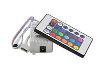 Контроллер IR RGB 6А (24 buttons), 12V, 2A/канал, 72W, фото 1
