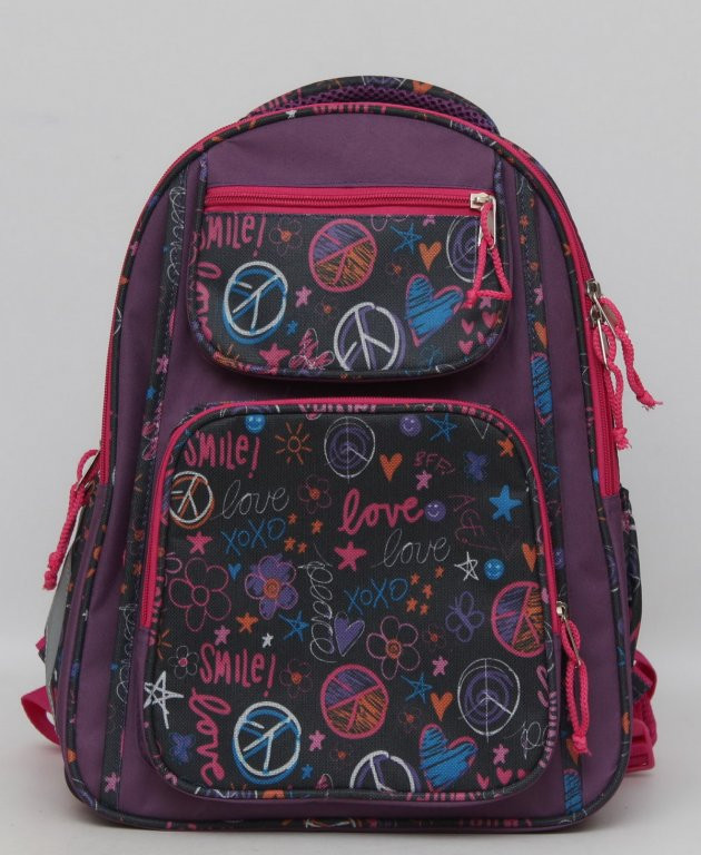 Школьный рюкзак для девочки. Рюкзак с ортопедической спинкой. Новый рюкзак. Прочный рюкзак. Код: КТМ240.