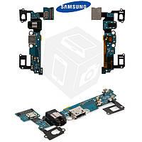 Шлейф для Samsung Galaxy A7 A700F/A700H, коннектора зарядки, коннектора наушников, микрофона (оригинальный)