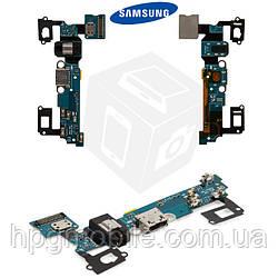 Шлейф для Samsung A7 (2015) A700F, A700H, коннектора зарядки, коннектора наушников, микрофона