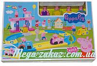 Гараж паркинг Свинка Пеппа/Peppa Pig, 41 деталь: 4 машинки с фигурками