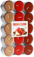 Свічка чайна ароматизована Bispol Яблуко-кориця 1.5 см 30 шт (p15-30-87)
