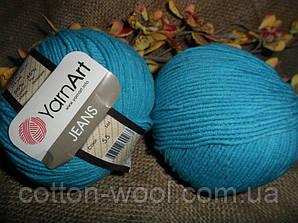 YarnArt Jeans (Ярнарт Джинс) 55 темная бирюза,