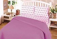 Летнее постельное белье пике  Perlay Lila