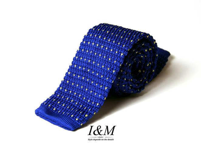 Вязаный галстук Blue & Yellow (020204), фото 2