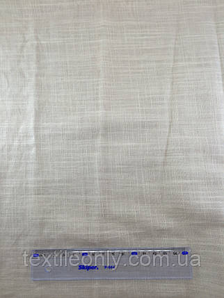 Ткань Лен цвет белый, фото 2