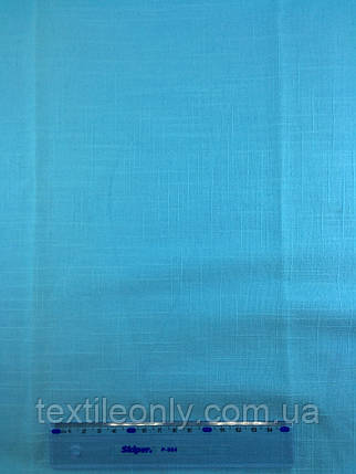 Ткань Лен цвет бирюза, фото 2