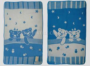 Vladi Детское одеяло шерстяное люкс Медвежата, фото 2