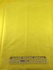 Ткань Лен цвет желтый