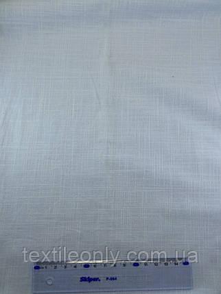 Ткань Лен цвет светлая бирюза, фото 2