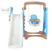 Детский игровой цент 4 в 1 . Детская горка , качеля - корзина - лестница Бесплатная доставка Укрпочтой