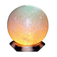 Солевая лампа (светильник) «ШАР», 6-7 кг с цветной лампой