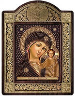 Набор с фигурной рамкой для вышивания бисером икона Богородица Казанская СН8002