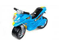 Мотоцикл каталка 2-х колесный желто-голубой Орион 501