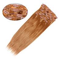 Искусственные волосы трессы на клипсах Гладкий шелк 60см Lady Victory 100г LDV SHC-CS /08-41