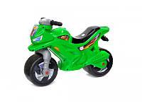 Мотоцикл беговел 2-х колесный зеленый Орион 501