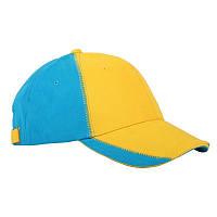 """Кепка """"Patriot"""", жёлто-голубая"""