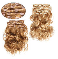 Искусственные волосы трессы на клипсах Легкий завиток 60см Lady Victory 150г LDV SHC-CL /02-71