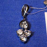Серебряная подвеска для женщин с камнями Лютик 3175-р