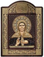 Набор с фигурной рамкой для вышивания бисером икона Св. Блж. Матрона Московская СН8004