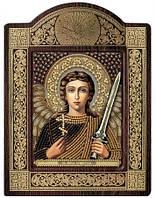 Набор с фигурной рамкой для вышивания бисером икона Ангел Хранитель СН8005