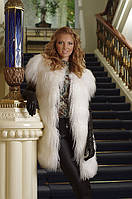 Жилет жилетка из меха ламы (Испания)  Tibet lamb fur vest, length=90 cm, фото 1