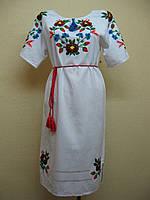"""Женская вышиванка. Вышитое платье. Вышиванки на домотканном полотне """"Сказка леса"""""""