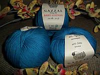 GAZZAL Baby Cotton(Беби Коттон)3428 темная бирюза
