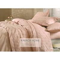 Набор постельное белье с покрывалом пике Karaca Home - Karya 2016 pudra пудра евро