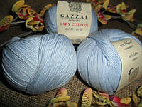 Gazzal Baby Cotton(Беби коттон) 3429 нежно-голубой