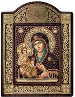 Набор с фигурной рамкой для вышивания бисером икона Богородица «Троеручица» СН8007