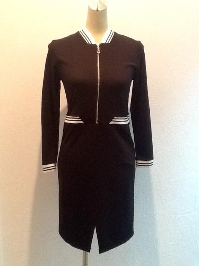 Платье черное рукав 3/4 бренд LUX копия