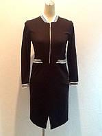 Платье черное рукав 3/4 бренд LUX копия, фото 1