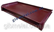 Торцева заглушка на віконний відлив, бордова (RAL 3005)