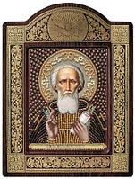 Набор с фигурной рамкой для вышивания бисером икона Св. Прп. Сергий Радонежский СН8130
