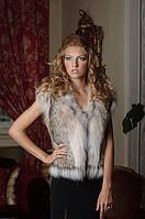 Короткий жилет жилетка из рыси canadian lynx fur vest gilet, фото 1