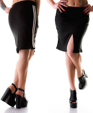 """Теплая женская юбка ангора """"Andrea"""" с разрезом, фото 2"""