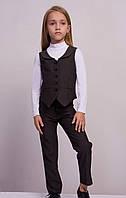 Строгий и стильный костюм для девочки. Размеры:104-140