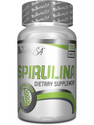Вітаміни Biotech USA Spirulina - 100 таб, фото 2