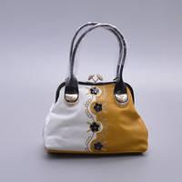 Белая с желтым сумка женская Velina Fabbiano