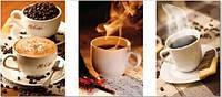 Алмазная вышивка Триптих. Пара чашек кофе KLN 30 х 60 см (арт. FS085) квадратные камни