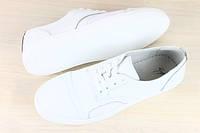 Кожаные мужские кроссовки белые. Мода 2016