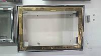 Дверка каминная внутренняя латуть (650х450)