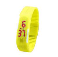 """Спорт-часы электронные наручные """"Sport LED"""" жёлтый"""