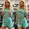 Кружевной костюм футболка+шорты, фото 2