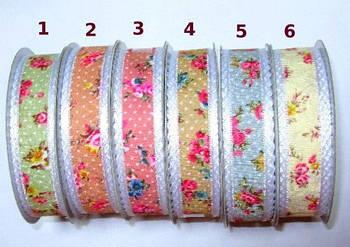 Лента декоративная 2,5 см, №3 темно-розовая