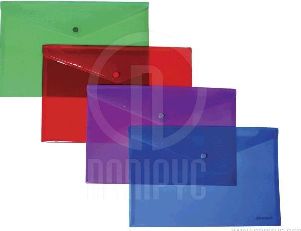 Папка ECONOMIX конверт А4 на кнопці прозора