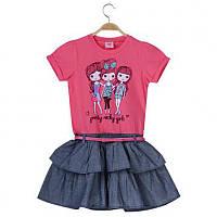 Нарядное и практичное детское платье Glo-Story;  98, 122 размер